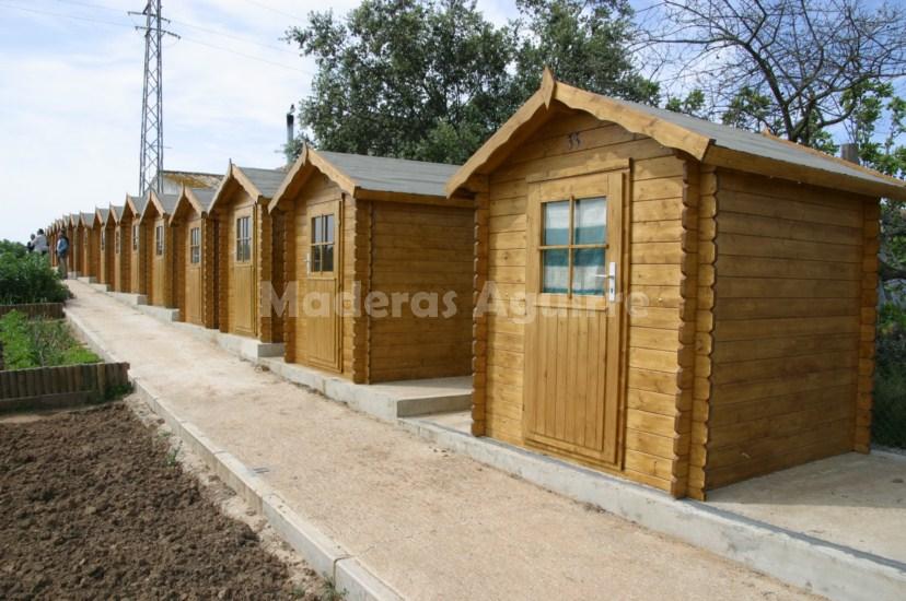 Maderas aguirre jardineria casetas de madera caseta - Caseta de madera para jardin ...
