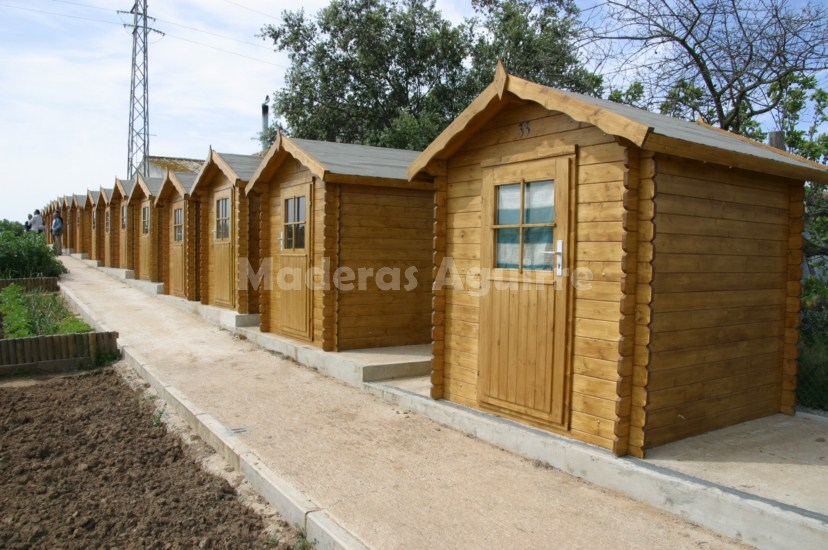 Maderas aguirre jardineria casetas de madera caseta for Casetas jardin baratas